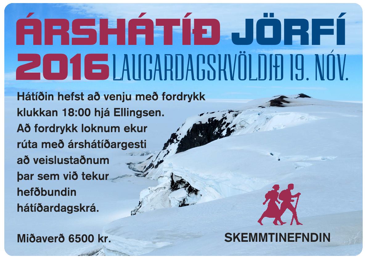 Auglýsing - Árshátíð JÖRFÍ 2016